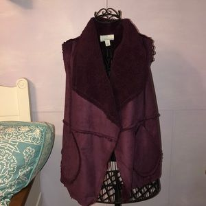 Faux Shearling Lined Vest